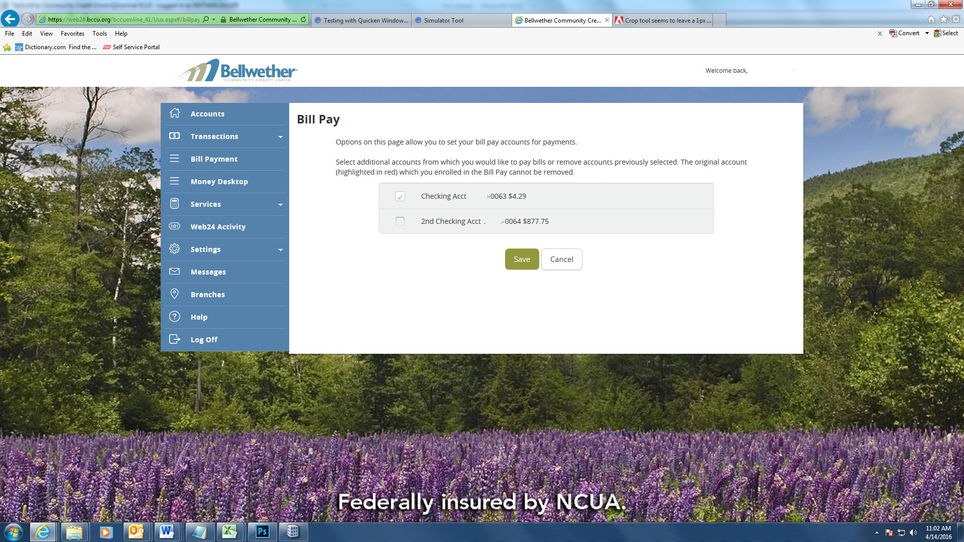 BCCU - WEB24 - Bill Pay - Bellwether Community Credit Union