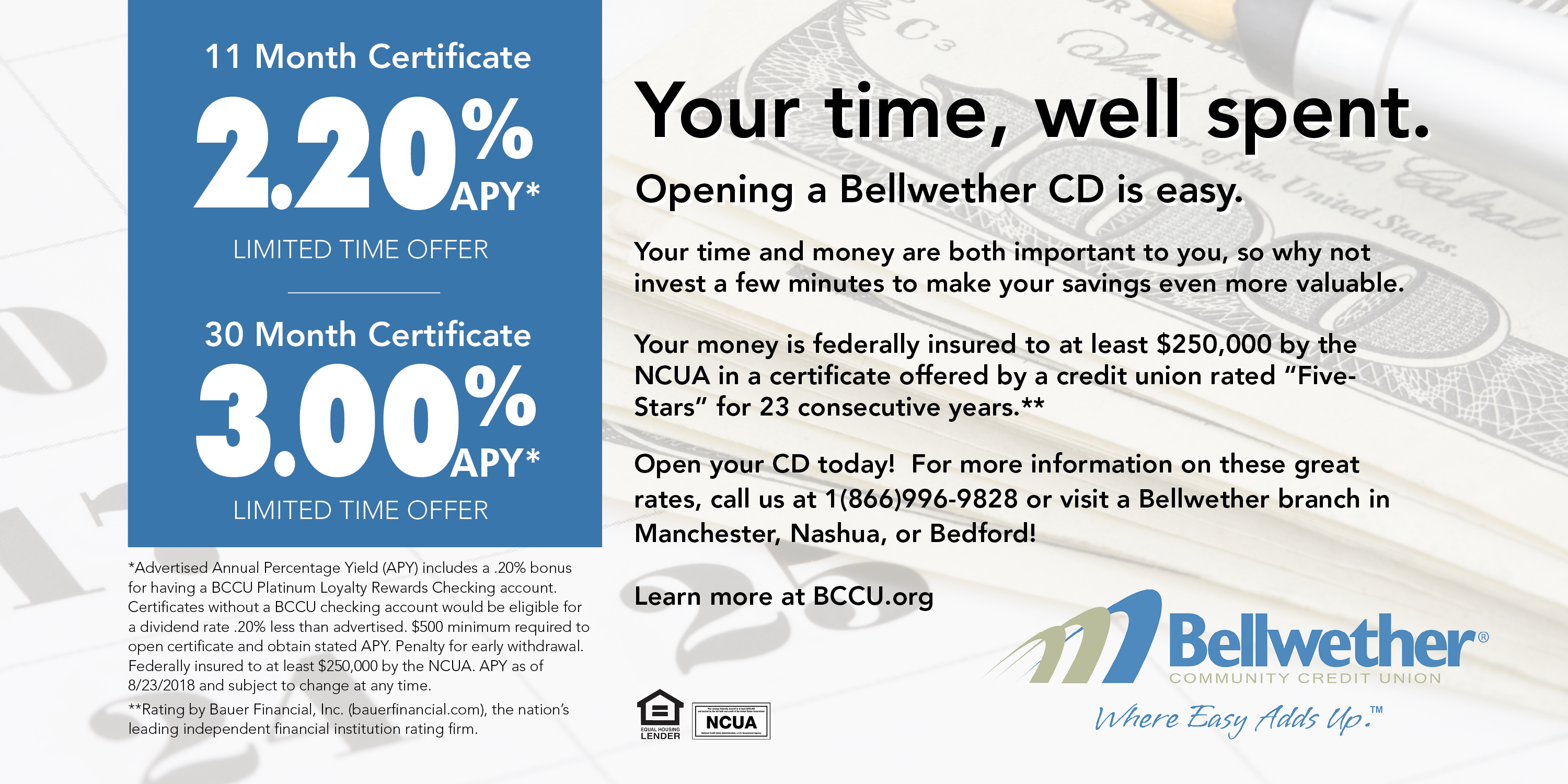 Certificates Iras Bellwether Community Credit Union