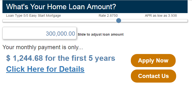 loan amount slider calculator