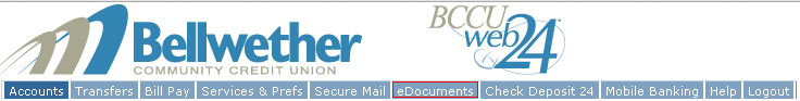 The eDocuments Tab is the sixth tab over from the left!