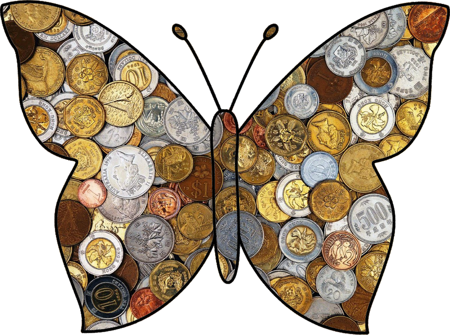 butterfly made of change