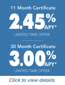 Featured Certificate Rates