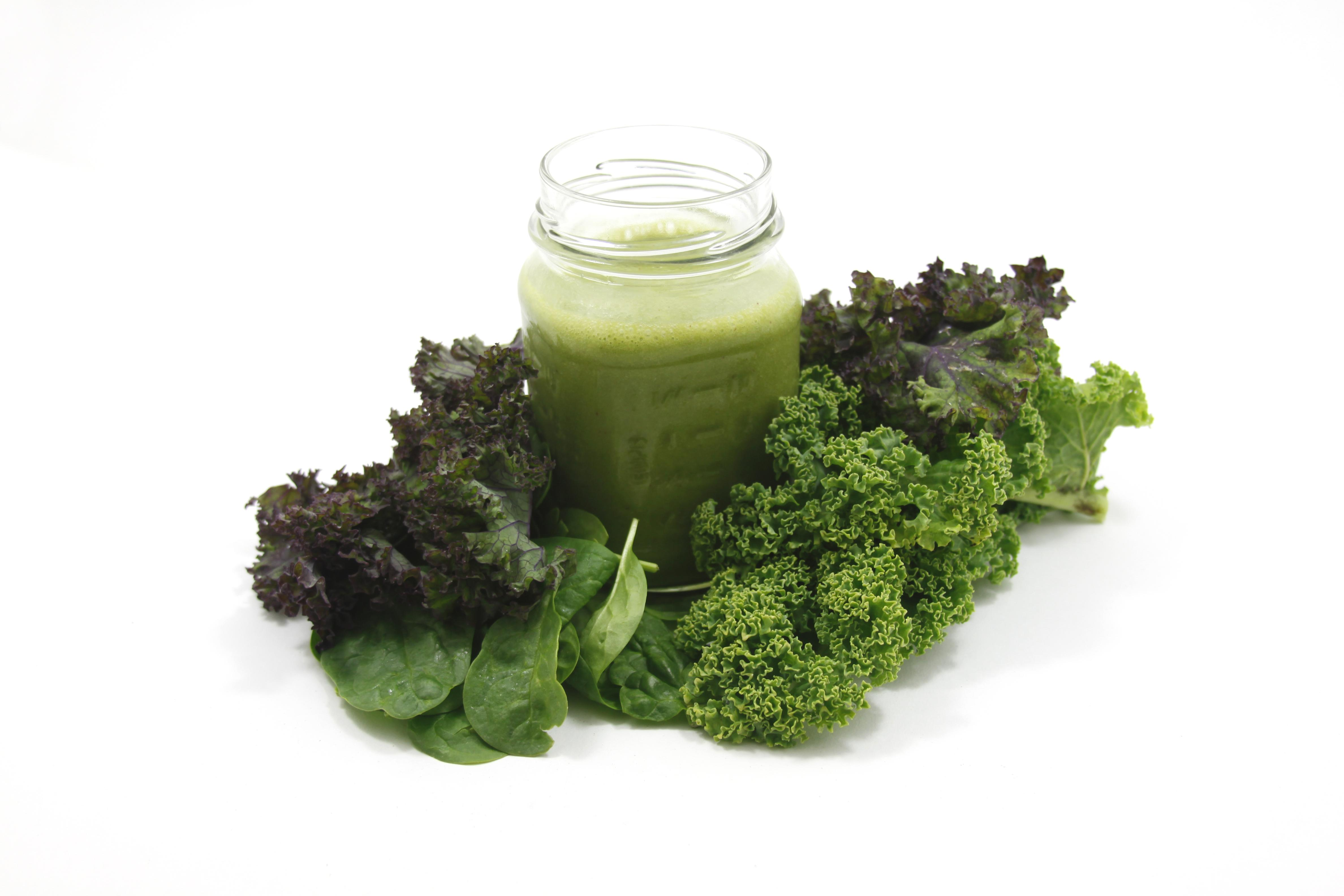 kale and smoothie