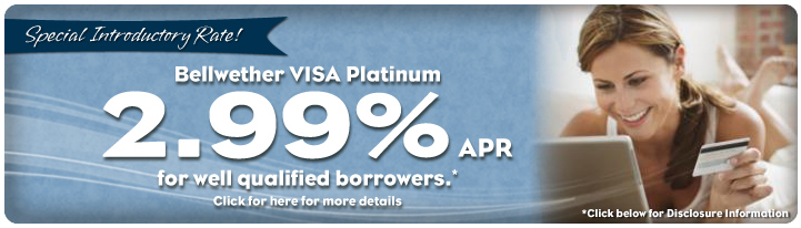A great low rate for your VISA credit card!