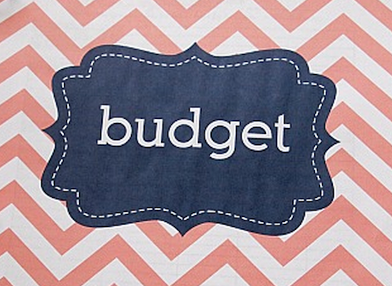 the word budget on top of a design
