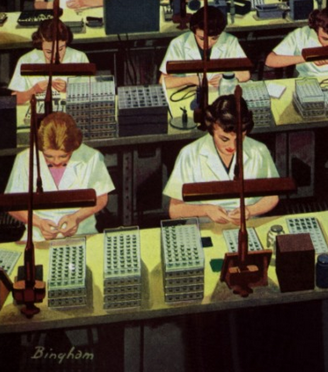 telephone workers