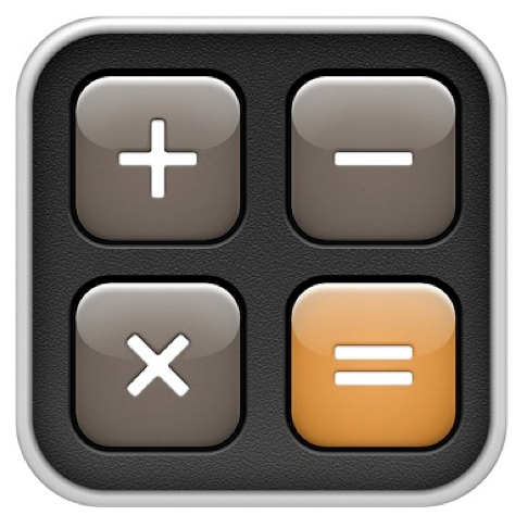 plus, minus, times and equals buttons